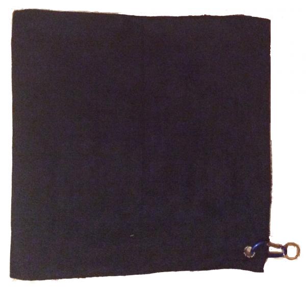 Barista Tuch schwarz 40x40cm Microfaser mit Hacken