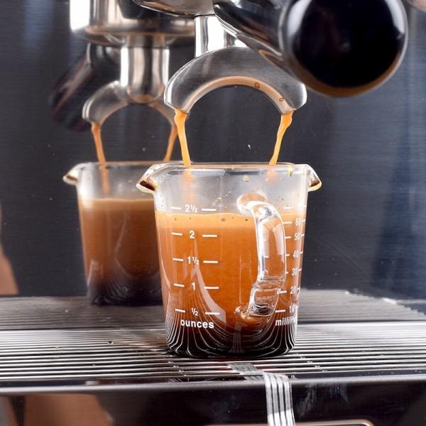 Espresso Shotglas 70ml mit Henkel und Auslauf