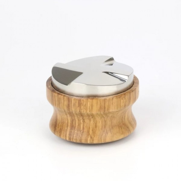 Leveler Tamper 58mm Edelstahl mit Holzgriff